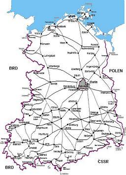 Streckennetz DR